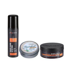 2 Exesio Hair Shampoo 280 ml +1 Exesio Barefoot +1 Exelixis Hair Mask